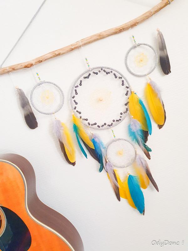 décoration bois tenture dreamcatcher