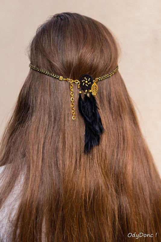 bijou de cheveux fêtes dorées
