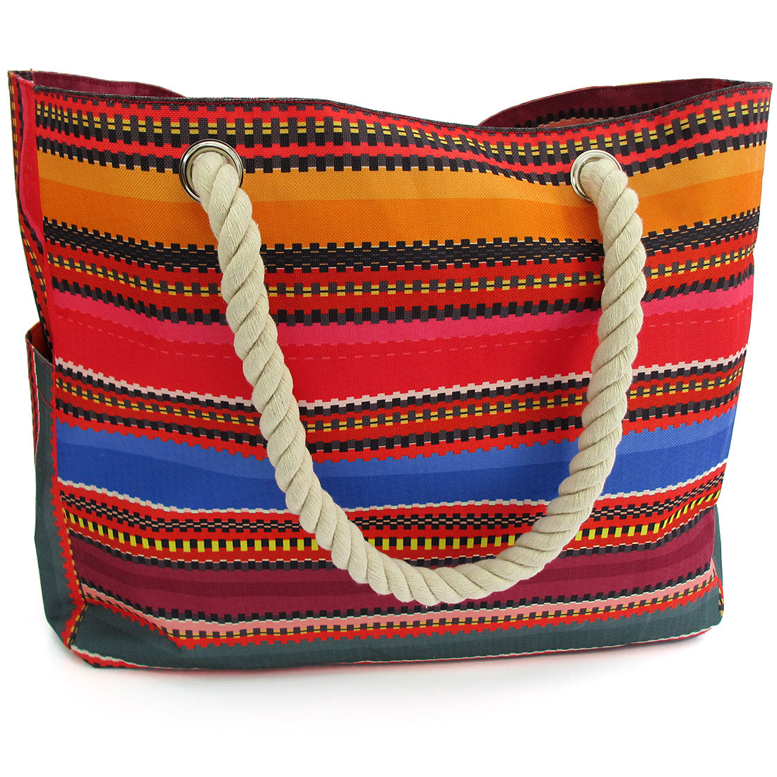 baja canvas beach bag tote