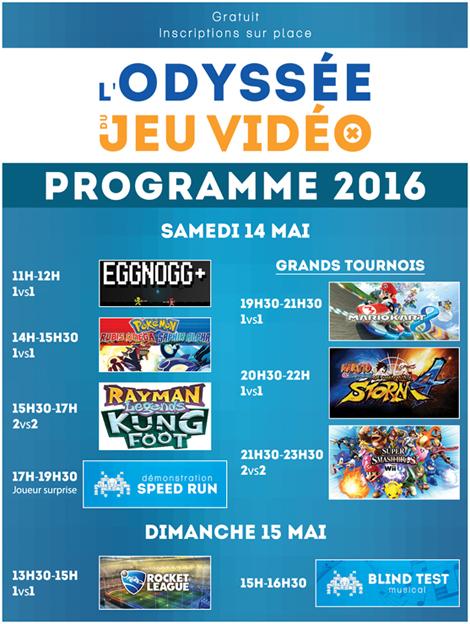 Programme 2016, L'Odyssée du Jeu Vidéo