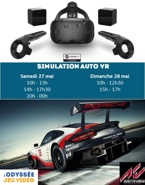 Simulation automobile, Réalité Virtuelle, L'Odyssée du Jeu Vidéo 2017 #ODJV