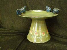 Ceramic Birdbath by Anne Jerman