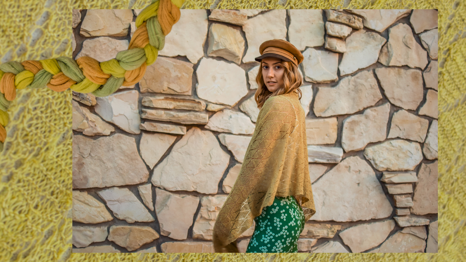 Seam Siren Nettle Shawl with Odyssey Designs