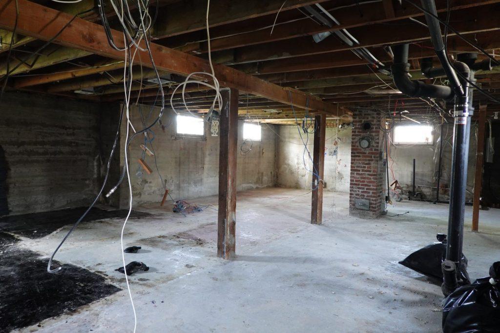 gutted basement