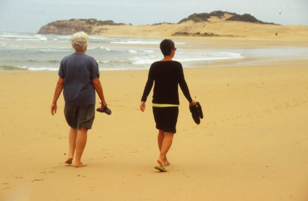 walking the beach with Jarri
