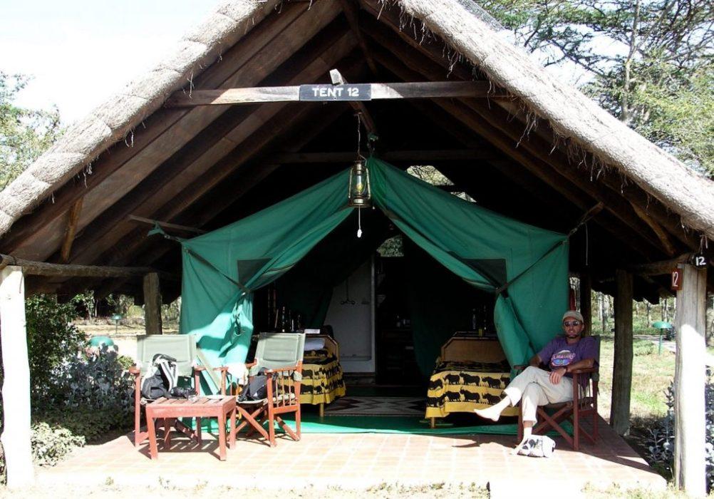 our tent at Mt. Kenya
