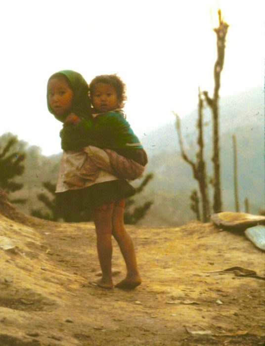 kids carrying kids