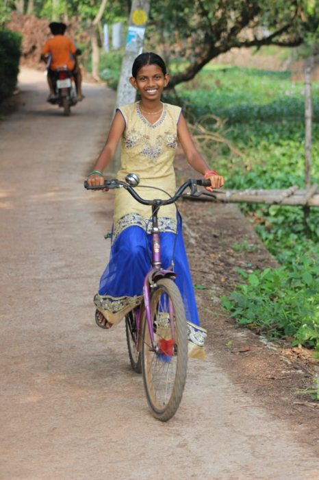 a pretty biker
