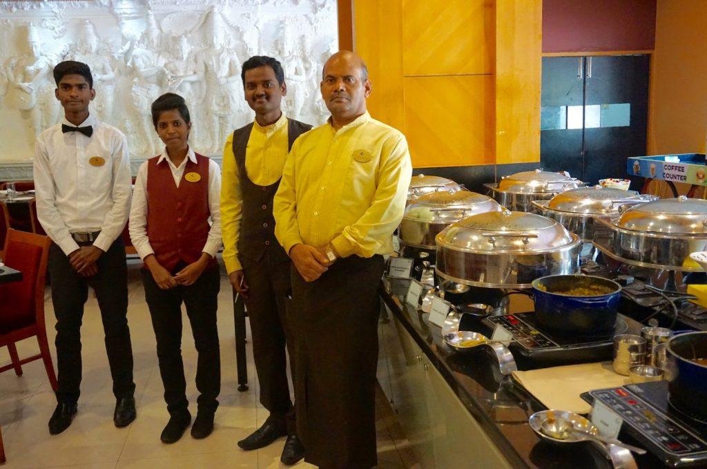the hotel dining room staff