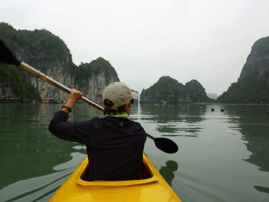 paddling among the karst