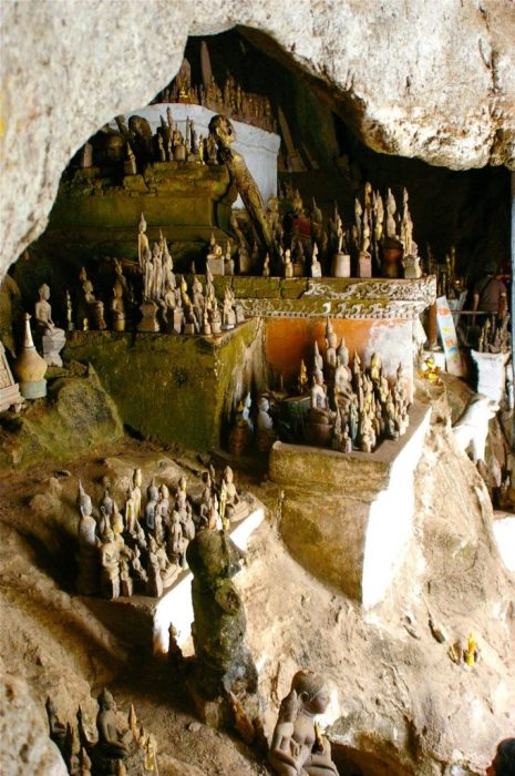 a cave full of Buddhas