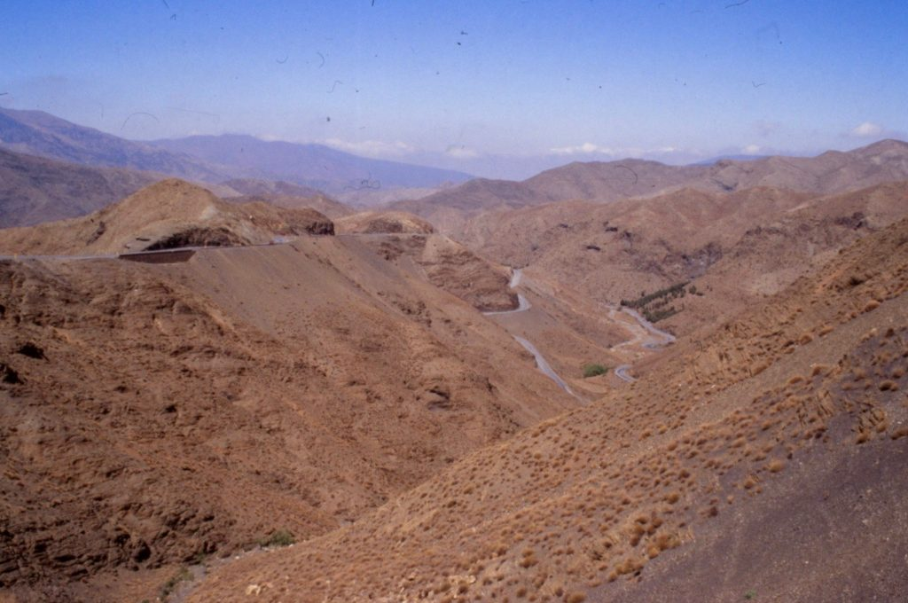 into the Atlas mountains