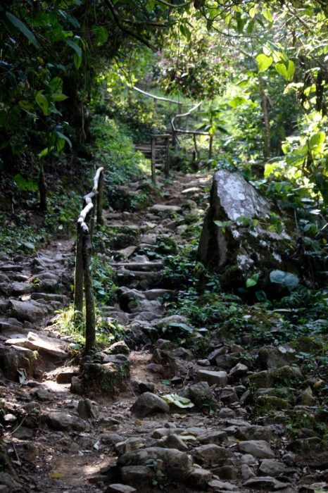 the trail to the Lost Cascadas