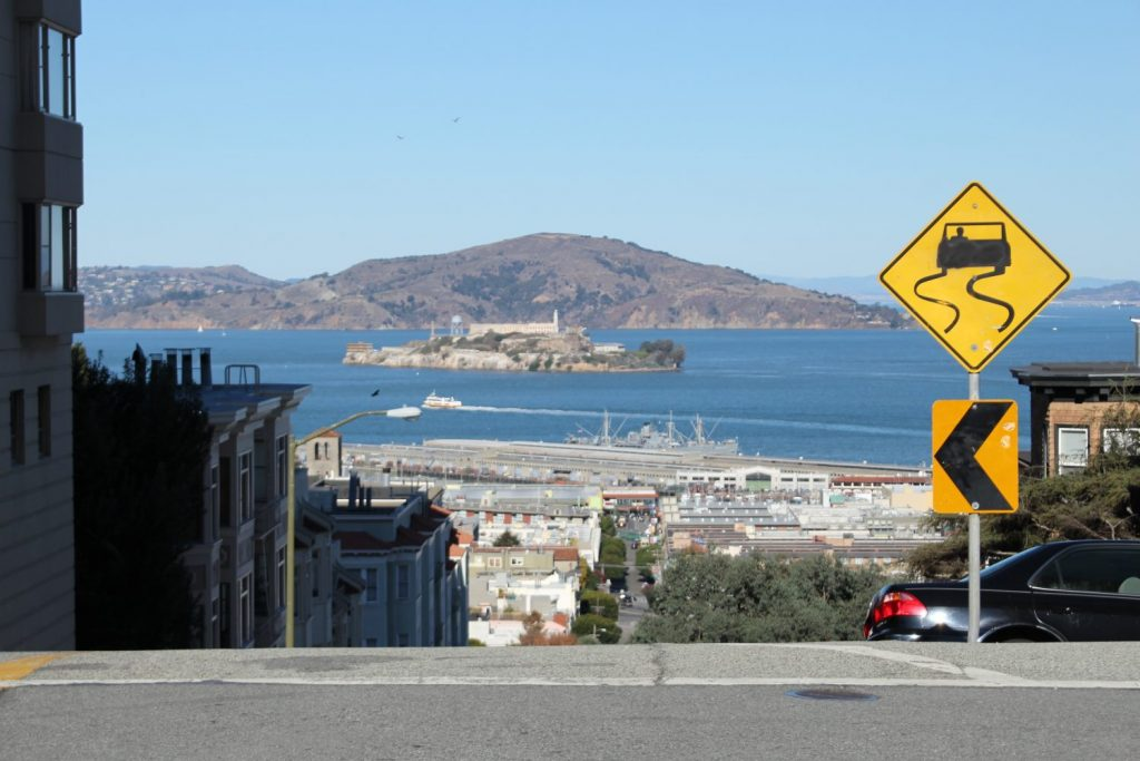 the top of Lombard St.