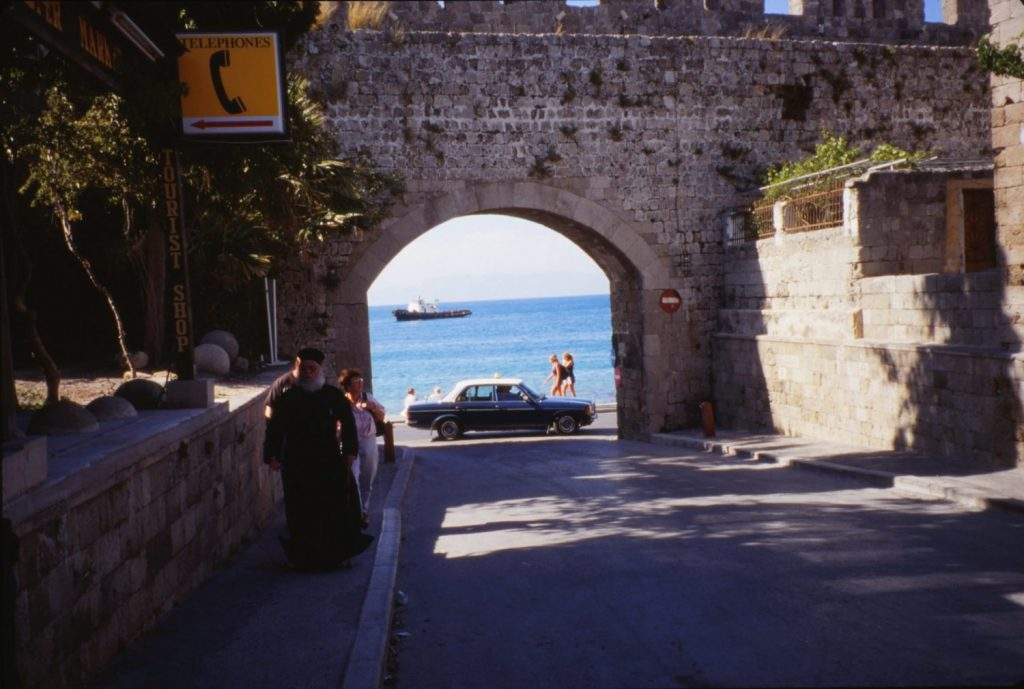 Rhodes is a walled city