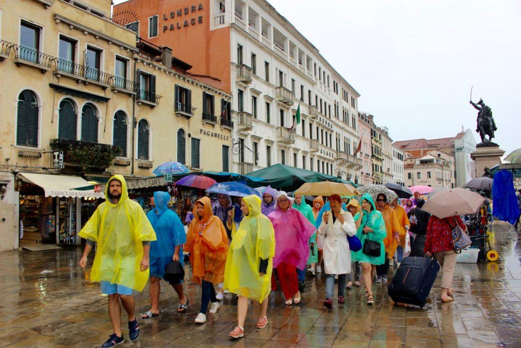 colourful tourists