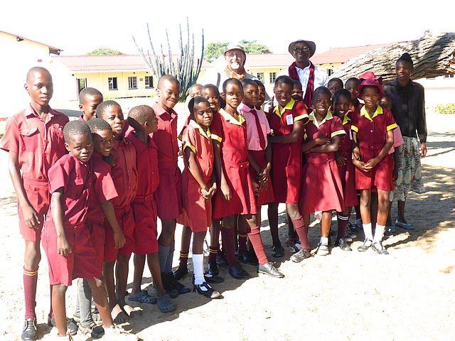 kids, their teacher, Craig & Elliott