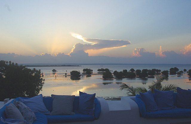 the lagoon at dusk