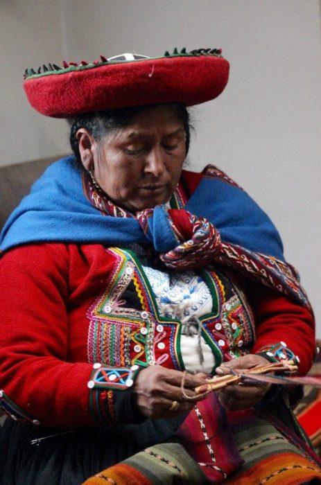 a local weaver