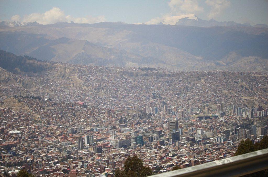first sight of La Paz