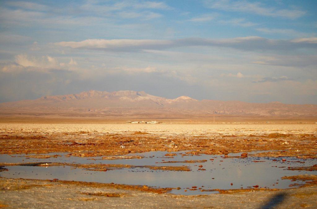 small lake in the salar