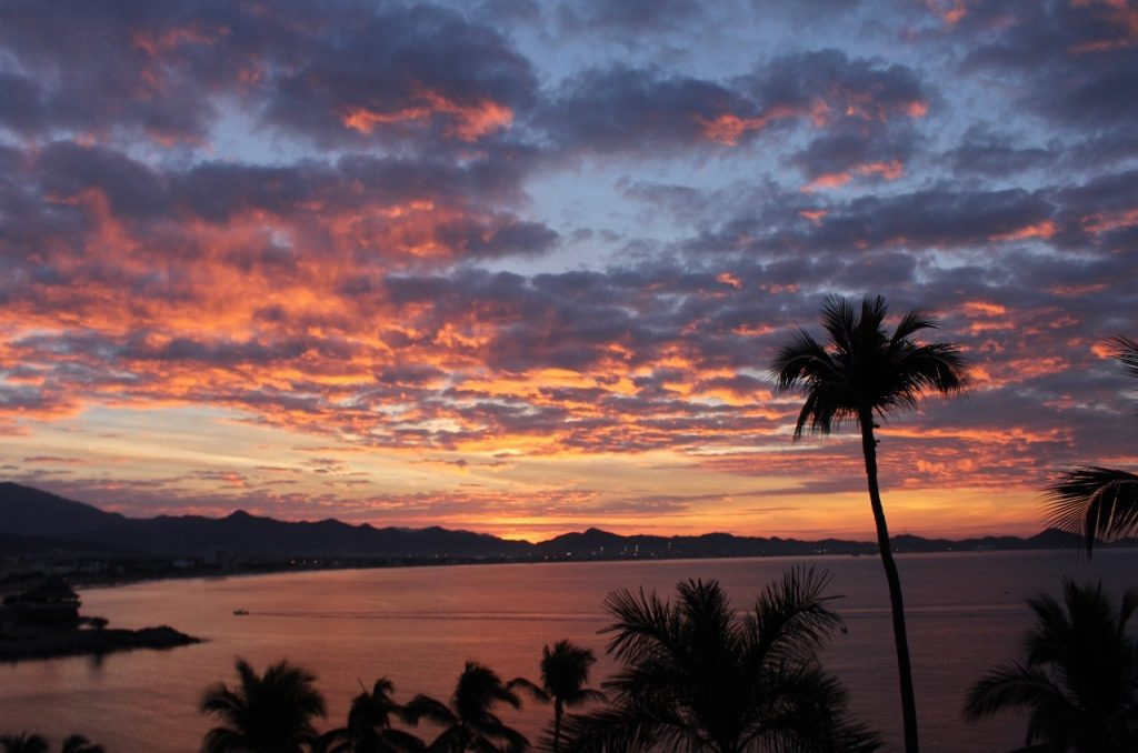 sunrise on Manzanillo Bay
