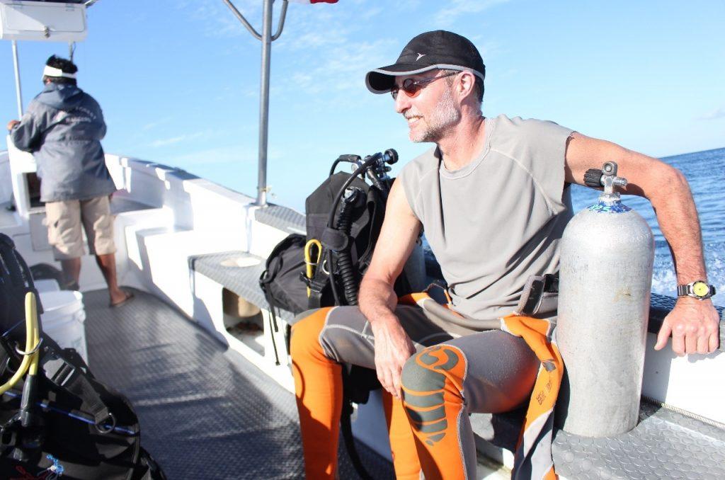 pre-dive boat trip
