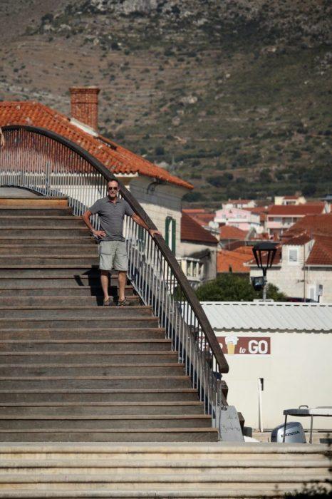 crossing the bridge to Trogir