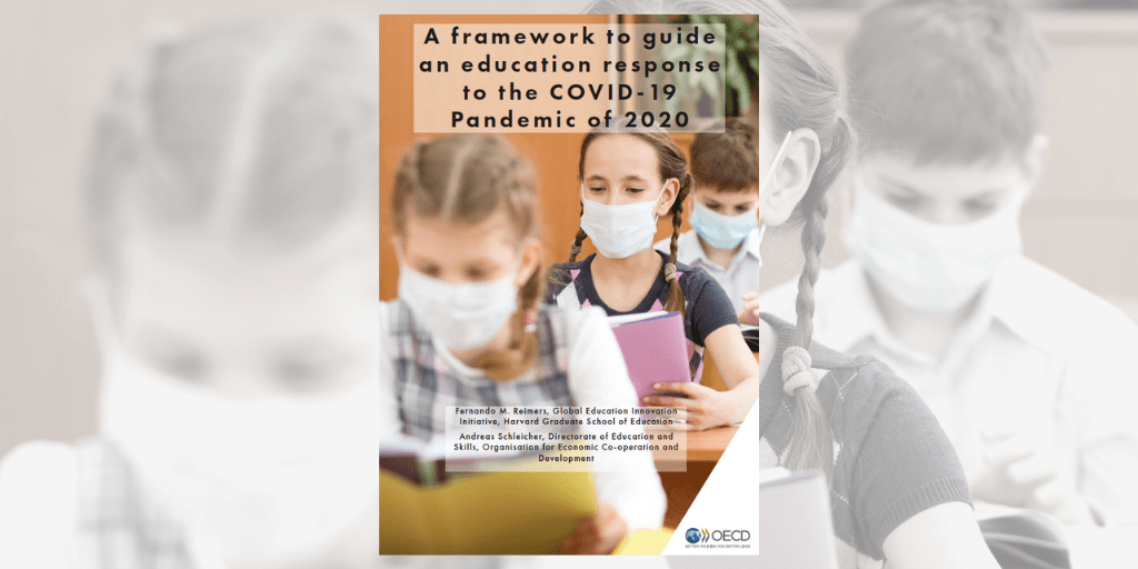 Cover of OECD-Harvard framework to guide an education response to the coronavirus (COVID-19) pandemic 2020