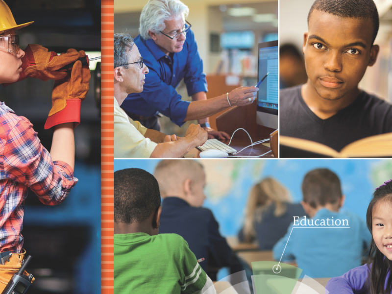Screenshot from cover of OECD Education at a Glance 2020