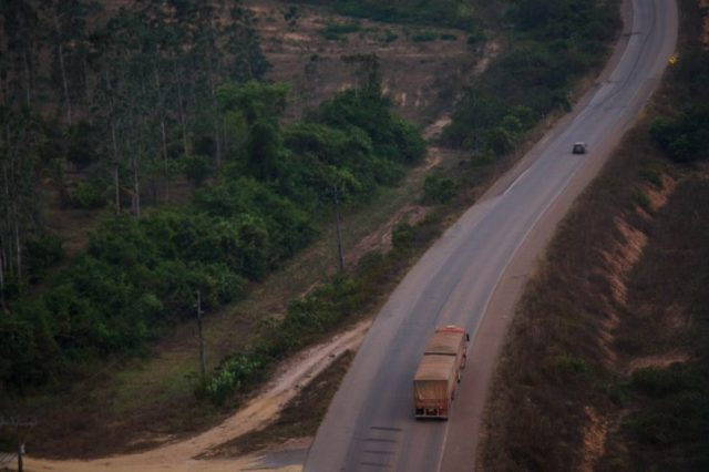 Rodovia BR-163, próximo a Novo Progresso. Foto: Bernardo Camara