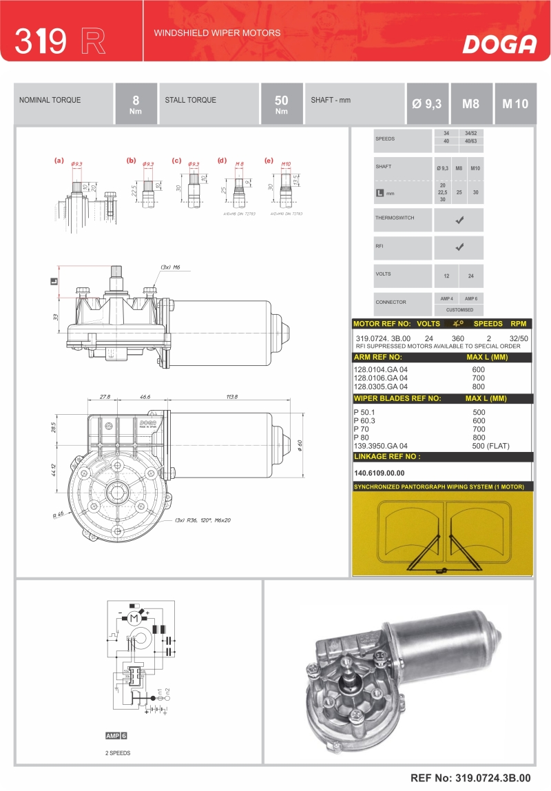 hight resolution of doga wiper motors oe coach supplies doga wiper motor wiring diagram