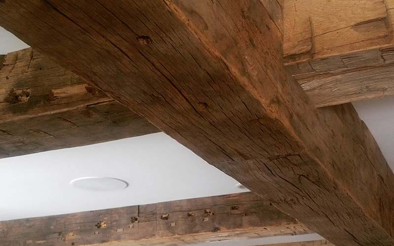 Come To OE Custom For Eco-Friendly Salvaged Wood Box Beams
