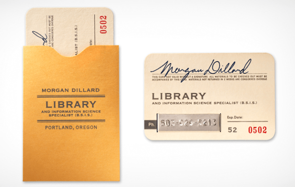 5 Awesome Librarian Business Cards OEDBorg