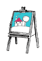 CHILDCARE-Easel