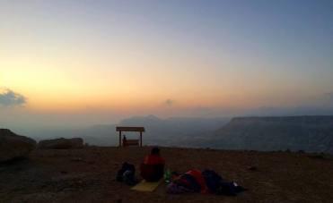 Campen in der Wüste Negev