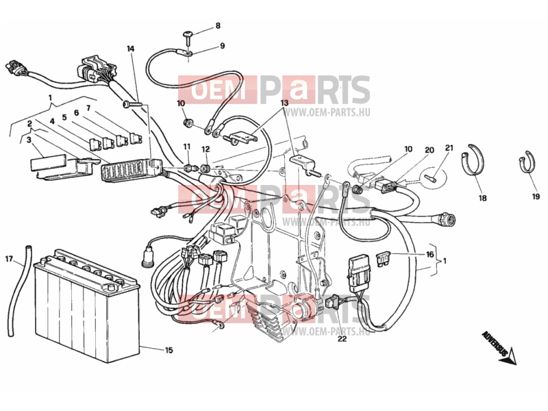Ducati Superbike 748 BATTERY » WIRING HARNESS exploded