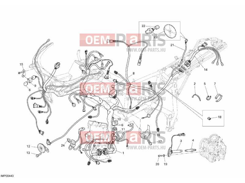 Ducati Superbike 1098 WIRING HARNESS » WIRING HARNESS