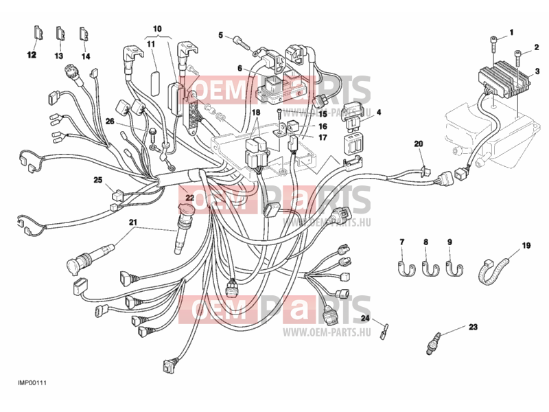 Ducati Monster S4 WIRING HARNESS » WIRING HARNESS exploded