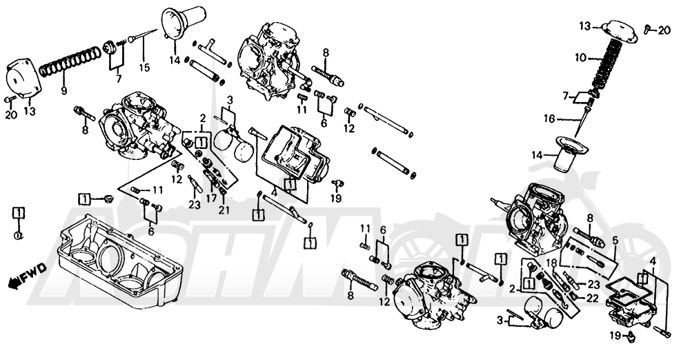 1985 honda shadow 700 carburetor diagram