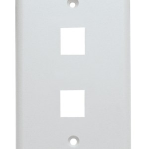 Keystone Wall Plate, Single Gang, 2 Port, White