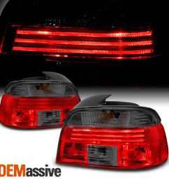 details about fits red smoked 97 00 bmw e39 5 series 525 528i 530 540i m5 tail lights [ 1500 x 1500 Pixel ]