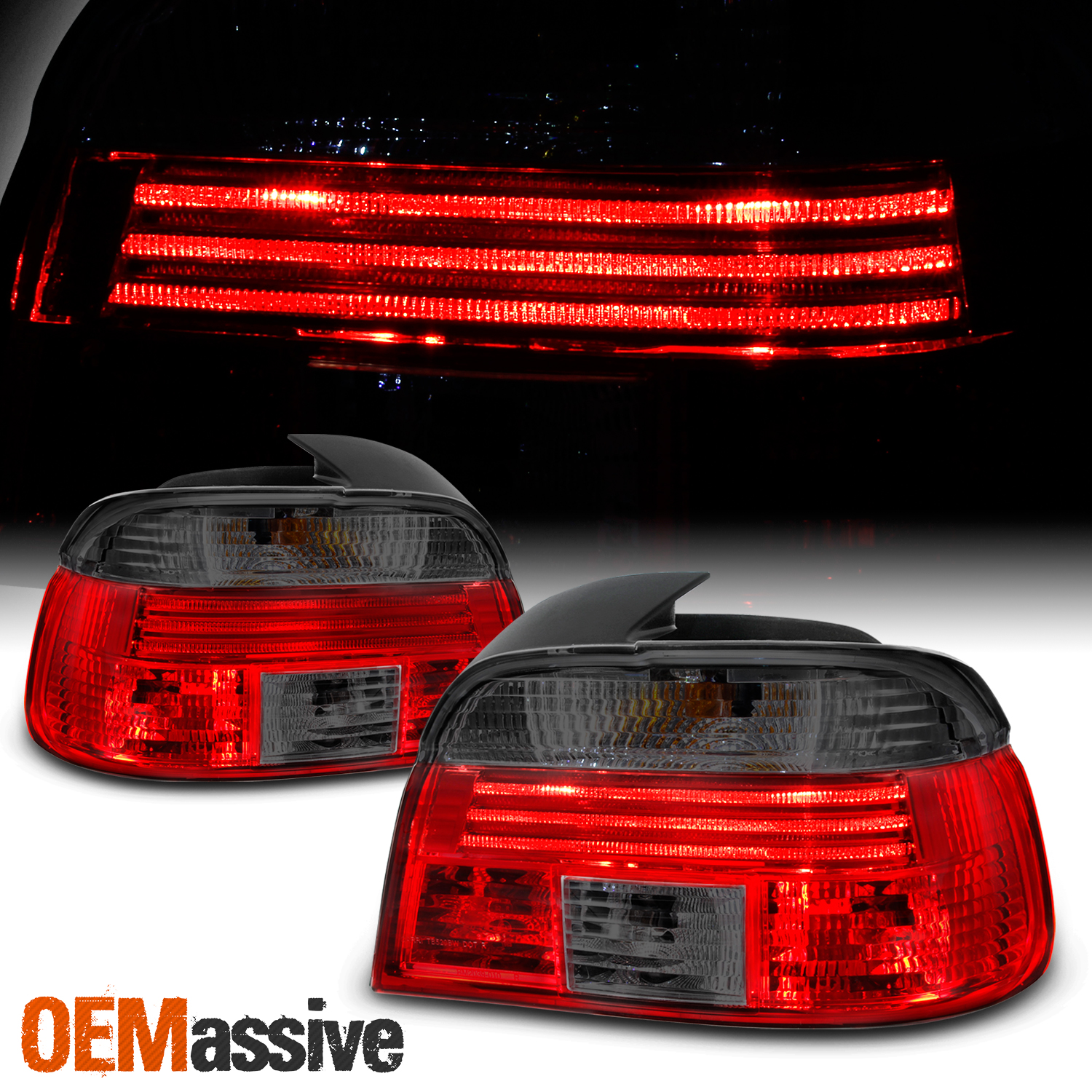 hight resolution of details about fits red smoked 97 00 bmw e39 5 series 525 528i 530 540i m5 tail lights