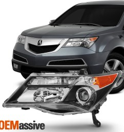 hid xenon style headlights for acura mdx 2007 2008 2009 driver left acura tl 2017 acura mdx 2009 acura mdx headlights hid headlight wiring [ 1500 x 1500 Pixel ]