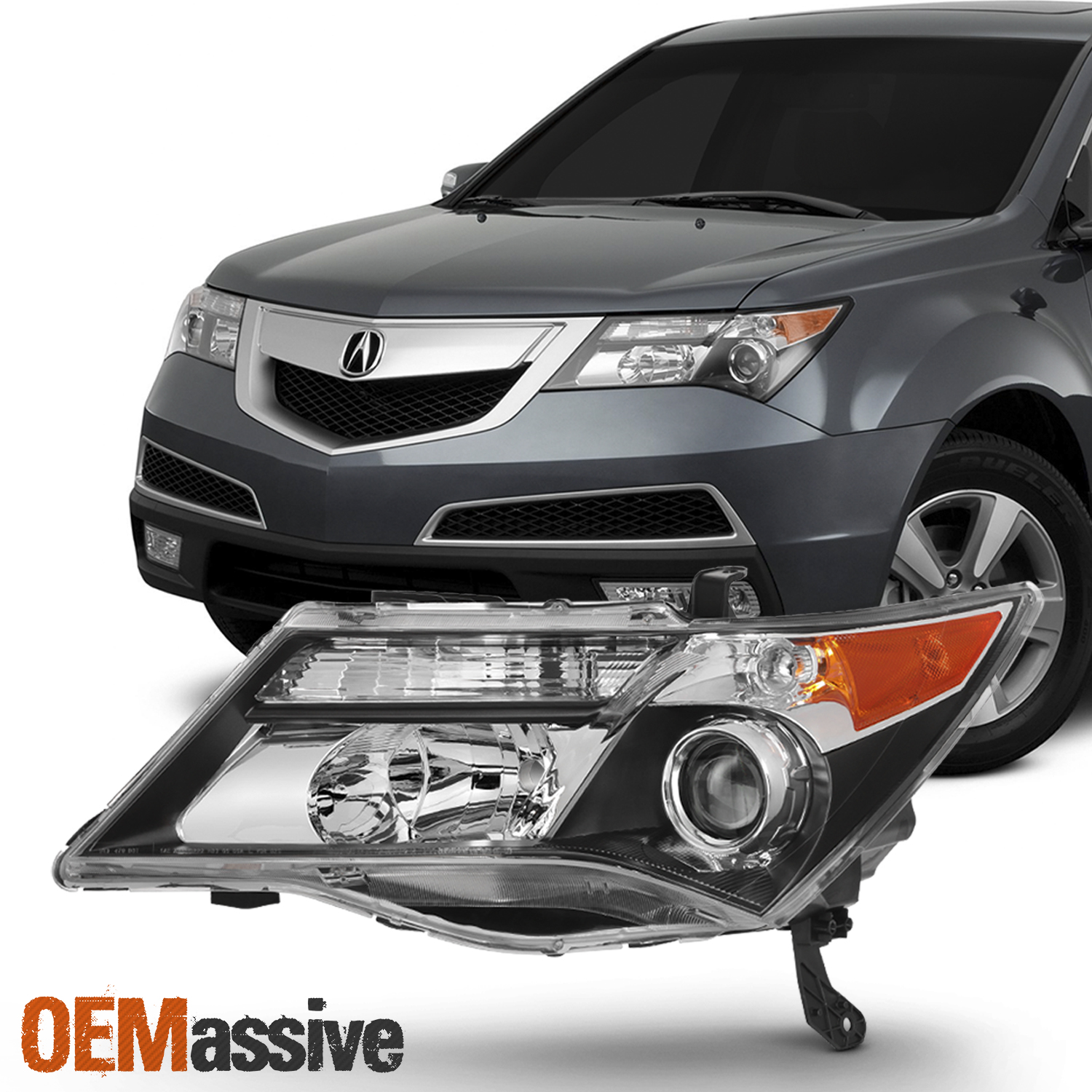 hight resolution of hid xenon style headlights for acura mdx 2007 2008 2009 driver left acura tl 2017 acura mdx 2009 acura mdx headlights hid headlight wiring