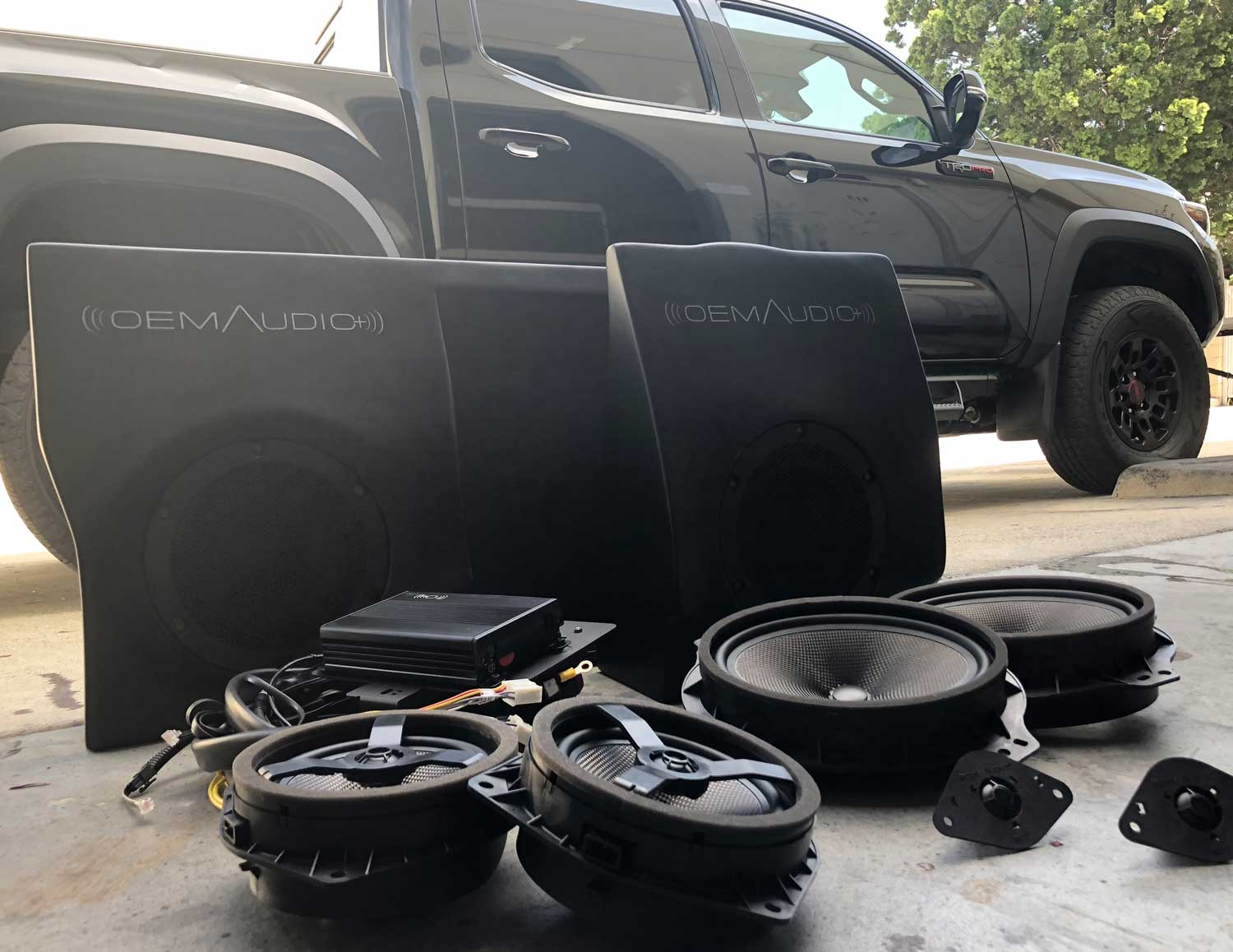 hight resolution of features designed and tuned specifically for the toyota tacoma