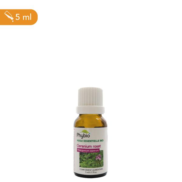 Géranium, huile essentielle
