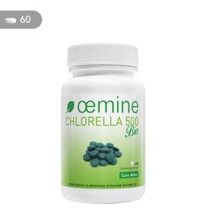 Chlorella pure certifiée biologique en comprimés de 500 mg.