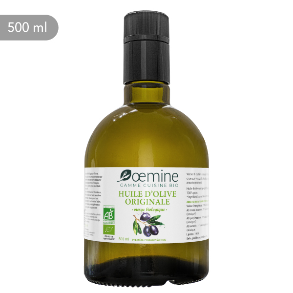 Pure huile biologique d'olive originale.