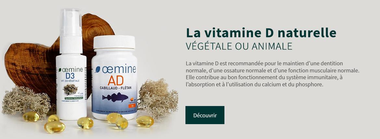 Mise en avant des vitamines A et d naturelles